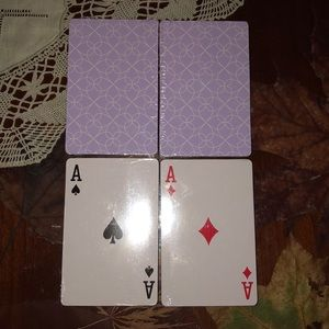 Playing card set lilac shabby chic
